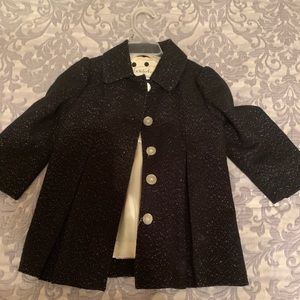 Black and glitter 2t over coat!